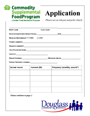 Commodity-Supplemental-Food-Program-Application-thumb Virginia Food Pantry Application Form on food stamps application, food bank form, head start application, adoption application, summer camp application,