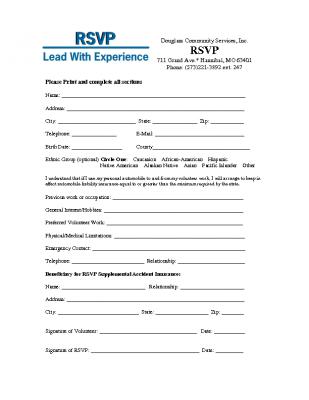 RSVP Enrollment Form