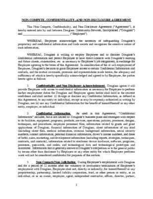 Board Member Non-Compete Agreement