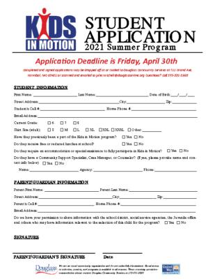 KIM Summer 2021 Application